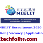 NIELIT Recruitment 2020 – Apply Online