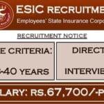 ESIC Recruitment 2020 esic.nic.in for 06 Senior Resident