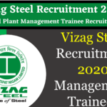 VIZAG Steel Recruitment 2020 For Management Trainees Post, Earn Up To Rs. 50,500 Per Month
